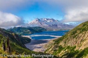 Mount Saint Helens with Spirit Lake.